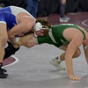 TIM JEAN/Staff photo <br /> <br /> Salem's Beau Dillon, left, wrestles against St. Johnsbury's Zeb Winot during the 220 pound final match in the George Bossi Lowell Holiday Wrestling Tournament.  12/28/19