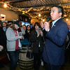 CARL RUSSO/Staff photo Democratic presidential candidate Andrew Yang greets supporters in Derry at the Rockingham Brewing Company for a early New Year's Eve chat. 12/31/2019