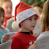 TIM JEAN/Staff photo <br /> <br /> Brayden Cyr, a first grade student at Hill View Montessori Public Charter School sings holiday songs with his fellow students to patients and staff at Whittier Rehabilitation Hospital.   12/20/19