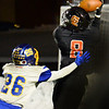 CARL RUSSO/Staff photo. Greater Lawrence's Franklyn Espinal turns to make the catch for the touchdown. Greater Lawrence Tech. defeated Assabet Valley 36-26 in State Vocational Bowl Thursday night. 12/05/2019