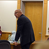 RYAN HUTTON/ Staff photo<br /> Dawn Marie Barcellona's attorney Stephen Jeffco, center, objects to the reading of victim impact statements at his clients sentencing hearing since she was not found guilty of the death of Andrew Dobson in October of 2018, only of first offense driving under the influence.