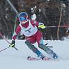 AMANDA SABGA/Staff photo <br /> <br /> Andover's Anna Soutter rounds a pole during a North Shore Ski League race at Ski Bradford in Haverhill.<br /> <br /> 1/14/19