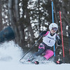 AMANDA SABGA/Staff photo <br /> <br /> Andover's Bethany Young speeds down the slope during a North Shore Ski League race at Ski Bradford in Haverhill.<br /> <br /> 1/14/19