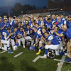 TIM JEAN/Staff photo<br /> <br /> <br /> Team East celebrates defeating team west during the CHaD All-Star football game Saturday night at the University of New Hampshire's Wildcat Stadium.      6/29/19