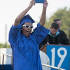 AMANDA SABGA/Staff photo<br /> <br /> Madelyn Centeno cheers and dances after receiving her diploma during Methuen High School's 2019 graduation ceremony on Nicholson Stadium.<br /> <br /> 6/7/19