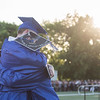 AMANDA SABGA/Staff photo<br /> <br /> Graduates Dylan Barstow and Angel Garcia hug after receiving their diplomas during Methuen High School's 2019 graduation ceremony on Nicholson Stadium.<br /> <br /> 6/7/19