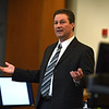 RYAN HUTTON/ THE EAGLE-TRIBUNE<br /> Prosecutor Jay Gubitose delivers his closing arguments to the jury in Salem Superior Court on Monday in the murder trial of Lawrence teen Mathew Borges, who is accused of killing fellow student Lee Manuel Viloria-Paulino in 2016.