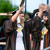 CARL RUSSO/Staff photo Haverhill graduate Sarah Licciardi celebrates receiving her diploma. Haverhill high school held its commencement ceremony Friday evening at Trinity Stadium. Diplomas were presented to 392 graduates.  5/31/2019