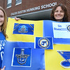 CARL RUSSO/staff photo. The Principal of the  Hunking School in Bradford, Shannon Nolan is the daughter of former St. Louis Blue GM Larry Pleau. She and daughter, Reese, 9, are Blues fans supporting their team in the Stanley Cup Finals. 5/30/2019