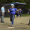 TIM JEAN/Staff photo<br /> <br /> Methuen's Avri Nelson crosses homeplate for a run against Andover during the Methuen Invitational Softball Championship game.  5/25/19