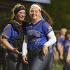 TIM JEAN/Staff photo<br /> <br /> Methuen catcher Courtney Belanger, left, celebrates with pitcher Jillian McCoy after defeating Andover 7-1 and winning the Methuen Invitational Softball Championship game. 5/25/19