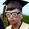 CARL RUSSO/Staff photo James Darwin wears the proper glasses during Haverhill high's commencement ceremony Friday evening at Trinity Stadium. <br /> <br /> Diplomas were presented to 392 graduates.  5/31/2019