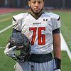 MIKE SPRINGER/Staff photo<br /> Star lineman Jeremy Rizzo of the Greater Lawrence Tech varsity football team.<br /> 11/20/2019