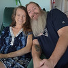 TIM JEAN/Staff photo <br /> <br /> Danielle Penney and her husband Brett, of Haverhill, are thankful that Danielle has received a liver transplant. Brett drove around with a magnet on the side of his car asking for donors to call a phone number to start the donor process earlier this year.     11/26/19