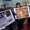TIM JEAN/Staff photo <br /> <br /> Animal rights groups held a fur protest outside the office of Miss New Hampshire Scholarship Program on East Broadway in Derry, NH.      11/29/19