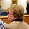 RYAN HUTTON/ Staff photo<br /> Andrew Dobson's mother Susan Dobson reacts in Rockingham Country Superior Court on Monday after finding out she would not be able to read a victim impact statement at the sentencing hearing of Dawn Marie Barcellona who was charged with drunk driving after an October 2018 accident in which she struck and killed her son Andrew Dobson. The state only charged Barcellona with DUI, for which she was fined and had her license suspended for a year.