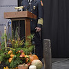TIM JEAN/Staff photo <br /> <br /> Darren O'Brien, Londonderry Fire Chief speaks as he welcome a piece of the World Trade Center during a ceremony held at Londonderry's Central Fire Station.       11/15/19