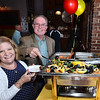 CARL RUSSO/Staff photo. Stephen and Samantha McKeon of Haverhill enjoy a variety of seafoods from Butch's Uptown restaurant; their first stop on the tour.<br /> <br /> The Exchange Club of Haverhill presented their annual Food, Fun and Flare from Around the World fund raiser on Thursday, June 13. Proceeds from this springtime fundraiser benefited Haverhill's local Boys & Girls Club, YMCA, YWCA in addition to Exchange Club. <br /> <br /> The unique event stimulated taste buds with foods from across the globe: China, Greece, France, Italy, Mexico and southern United States to name a few. <br /> <br /> The 13 restaurants that participated are: G's,  Mark's Deli, Keon's 105 Bistro, Battlegrounds Coffee Co., The Lasting Room, Wang's Table, Hans Garden, La Pizza Di Forno, Olivia's, Butch's Uptown, Maria's Family Restaurant, The Peddler's Daughter and Casa Blanca. Each  restaurants featured ethnically-themed small plates from different areas of the world. 6/13/2019