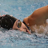 MIKE SPRINGER/Staff photo<br /> Malia Amuan of North Andover swims to a record-breaking victory Sunday in the 500-yard Freestyle in the state Division 1 finals at the MIT pool in Cambridge.<br /> 11/17/2019