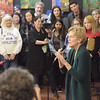 TIM JEAN/Staff photo <br /> <br /> Massachusetts Senator and presidential candidate Elizabeth Warren speaks to her supporters during a canvass kickoff event at Coffee Coffee in Salem, NH. 11/23/19