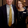 TIM JEAN/Staff photo <br /> <br /> Bill Pennington, of Andover, and  Marcy Furse, Coordinator of Volunteers at Lazarus House, gather during the cocktail hour of the annual ''Sharing Our Bounty'' Gala held at the Andover Country Club.  11/16/19