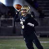 CARL RUSSO/Staff photo. Haverhill's quarterback, Brady Skafas looks to pass. Haverhill defeated Lexington 42-28 in Friday night football action. 11/15/2019