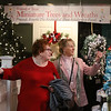 MIKE SPRINGER/Staff photo<br /> Maureen Sullivan, left, of Windham and Pam Rochon Russell of Salem, New Hampshire, browse through the miniature tree and wreath room Thursday at the 26th Annual Festival of Trees in Methuen.<br /> 11/21/2019