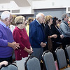 CARL RUSSO/Staff photo. From left, Larry and Alice Pahigian of North Andover attend the service along with over one hundred people.<br /> <br />  The Armenian Apostolic Church at Hye Pointe in Haverhill consecrated its sanctuary cross and placed it on top of the dome Thursday, June 20. A reception was held after the service. 6/20/2019. <br /> <br />  Fr. Vart Gyozalyan, pastor of the Armenian Apostolic Church at Hye Pointe and special guest Bishop Daniel Findikyan of the Diocese of the Armenian Church of America (Eastern) in New York along with a dozen priest and deacons held a service to bless the cross and the people attending. A reception was held after the service.  6/20/2019