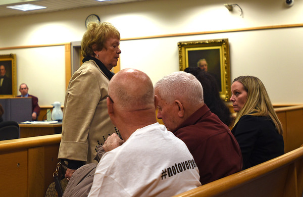 RYAN HUTTON/ Staff photo<br /> Andrew Dobson's mother Susan Dobson walks out of Rockingham Country Superior Court on Monday after finding out she would not be able to read a victim impact statement at the sentencing hearing of Dawn Marie Barcellona who was charged with drunk driving after an October 2018 accident in which she struck and killed her son Andrew Dobson. The state only charged Barcellona with DUI, for which she was fined and had her license suspended for a year.