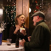 MIKE SPRINGER/Staff photo<br /> Erin and Eric Houlihan of Tewskbury enjoy chowder and a conversation Thursday during the 26th Annual Festival of Trees in Methuen.<br /> 11/21/2019