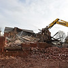RYAN HUTTON/ Staff photo<br /> The old St. George church on Washington Street in Haverhill is being torn down to make way for affordable housing units after two decades of sitting unoccupied.