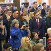 TIM JEAN/Staff photo <br /> <br /> A crowd of people snap photos of Massachusetts Senator and presidential candidate Elizabeth Warren as she speaks during a canvass kickoff event at Coffee Coffee in Salem, NH. 11/23/19