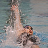 MIKE SPRINGER/Staff photo<br /> Emily Ma of Andover competes Sunday in the 100-yard Backstroke in the state Division 1 finals at the MIT pool in Cambridge.<br /> 11/17/2019