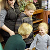 TIM JEAN/Staff photo <br /> <br /> Massachusetts Senator and presidential candidate Elizabeth Warren meets with Katrina Jackson, of Salem, NH., with her children Wesley, 9, and Isla, 4, after speaking during a canvass kickoff event at Coffee Coffee in Salem, NH. 11/23/19