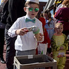 TIM JEAN/Staff photo<br /> <br /> Lennon Thiele, 5, of Derry, dressed as an old time Ice Cream man for the Downtown Business Trick-or-Treating in Derry.  10/26/19