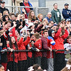 RYAN HUTTON/ Staff photo<br /> North Andover fans cheer the team's first goal during the second quarter of Friday's home game against Billerica.
