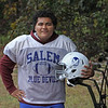 MIKE SPRINGER/Staff photo<br /> Josh Ozoria, center and defensive end for the Salem Blue Devils varsity football team.<br /> 10/03/2019