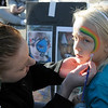 TIM JEAN/Staff photo<br /> <br /> Kathleen Asselin, left, of Methuen paints the face of Jordan Demand, 6, of Salisbury, before the start of the Samaritans of Merrimack Valley 3rd annual Walk for Hope. The event was held in Willows Professional Park in North Andover. 10/19/19