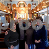 TIM JEAN/Staff photo<br /> <br /> Members of the Congregation Ansha Sholum from left, Linda and Jurgi Siegenthaler, Frayda Koffman and Nancy Provencal gather in the sanctuary. The congregation on Hampshire Street in Lawrence is celebrating its 100 year anniversary this weekend.   10/22/19