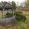 TIM JEAN/Staff photo<br /> <br /> The gazebo and bridge will be replaced on Windham's Town Common. The town has started a beautification project that includes sidewalks, LED light poles, trees, gardens, and updated parking areas are also part of the plan.   10/18/19