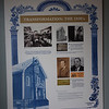 TIM JEAN/Staff photo<br /> <br /> One of several panels that shows the history of the Congregation Ansha Sholum on Hampshire Street in Lawrence. The congregation is celebrating its 100 year anniversary this weekend.   10/22/19