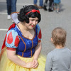 MIKE SPRINGER/Staff photo<br /> Casey Hatch of Haverhill visits with a child while portraying Snow White during the annual Toscana Fest on Sunday at the Tuscan Kitchen and Market in Salem, New Hampshire. The event included food, games and exhibits, with proceeds going to Lazarus House Ministries.<br /> 10/13/2019