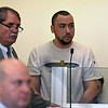 RYAN HUTTON/ Staff photo<br /> Giovanni Lebron, of Lawrence, appears in Essex County Superior Court in Salem on Wednesday to face murder charges in the July death of 24-year-old Nicole Connor.