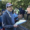 MIKE SPRINGER/Staff photo<br /> Andover Trails director and board member Harry Voorhees welcomes participants and explains the course before the start of the 2nd Annual Andover Scramble on Sunday. <br /> 10/06/2019