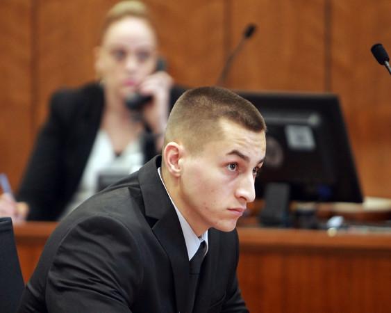 MIKE LABELLA/ Staff photo<br /> Owen Foote, 20, of Methuen.
