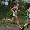 MIKE SPRINGER/Staff photo<br /> Finleigh Simonds of Haverhill runs in a cross country meet Wednesday with Central Catholic and Billerica at Winnekenni Park in Haverhill. <br /> 10/02/2019