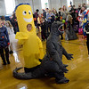 TIM JEAN/Staff photo<br /> <br /> Children in the 7-8 year old contest parade around during the Spooktacular Costume Parade & Contest in Veterans Hall Gymnasium in Derry.   10/26/19