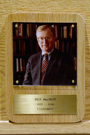 TIM JEAN/Staff photo<br /> <br /> Paul MacAvoy, PHD was inducted into the Haverhill Citizens Hall of Fame.  10/26/19