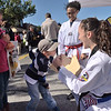 TIM JEAN/Staff photo<br /> <br /> Joseph Vaters, 5, of Methuen, breaks a board with his fists at the Chang's Taekwondo America booth, during the second annual Methuen Day in downtown Methuen. 10/5/19