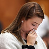 MIKE LABELLA/ Staff photo<br /> Jordan Rankin's sister Julia reads a victim impact statement  in Haverhill District Court on Tuesday during a change of plea hearing for Owen Foote.